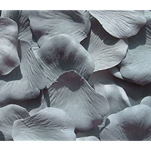 IGC 100 Silk Rose Petals Wedding Favors - Solid Colors - Grey - Wedding Reception and Party Supplies 64
