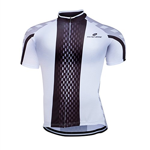 ZEROBIKE Men's Cycling Short Sleeve Jersey Comfortable Breathable Shirts Sportswear Clothing Bike Top Quick Dry