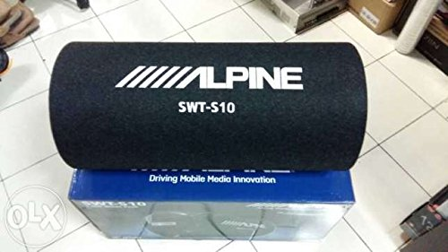 Amplified Subwoofer Tube System - Alpine SWT-S10 1200W Max (250W RMS) Single 10