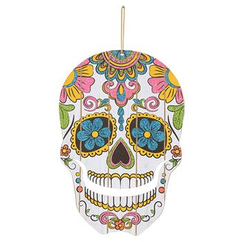Halloween Happy Skull Door Hanger -