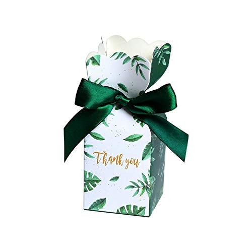 Birthday Party Christmas Supplies Wedding Favours Gift Decoration Green Paper Candy Boxes Gift Bag Wedding Gift Box Baby Favors,Green,50 Pcs]()