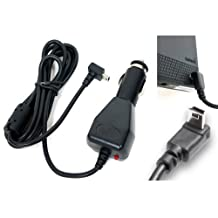"ChargerCity 12v Garmin Nuvi 2455 2460 2475 2495 2555 2595 3450 3490 3550 3590 3750 3760 3790 200 250 255 265 30 40 50 LM GPS Vehicle Power Cable Car Charger Adapter with extended 6FT Straight Cord, custom ""L"" Shape Connector & magnetic ferrite to prevent Electro-Magnetic shock with Manufacture direct replacement warranty (Best Replacement for Garmin 010-11838-00 / 010-10723-06 / 010-10723-14 / 010-10851-11 / 010-11478-03)"