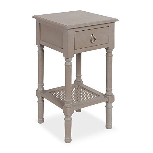Kate and Laurel Cayne Solid-Wood Casual Nightstand Side End Table