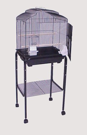 "Rolling Stand For 18"" x 14"" or 18"" x 18"" Bird Cage  White"