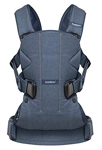 BABYBJORN Baby Carrier One – Classic Denim Blue, Cotton