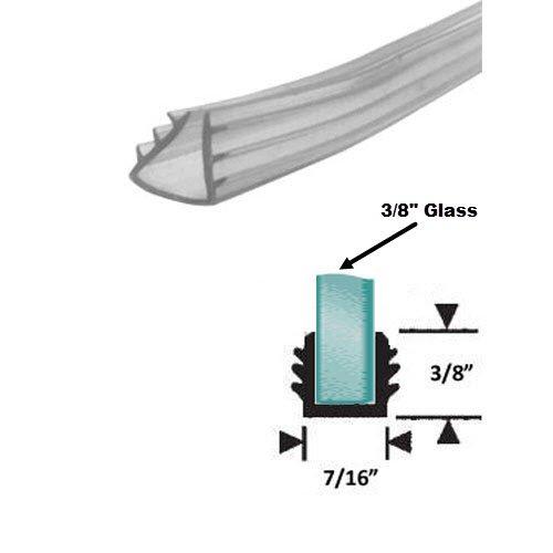 "Clear Shower Door Replacement Glazing Vinyl for 3/8"" Glass - 18 ft best"