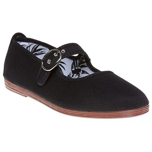 Flossy Tolosa Mujer Zapatos Negro