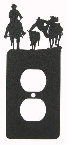Steer Wrestling Bull Dogging Power Outlet Plate Cover