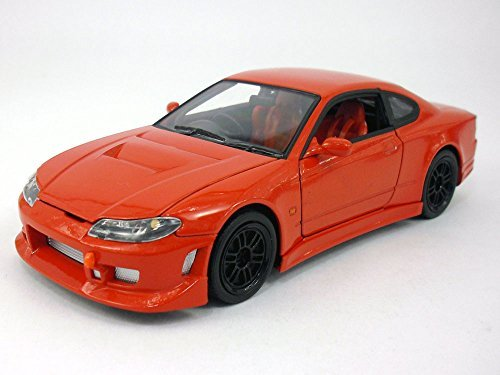 NEW 1:24 DISPLAY WELLY COLLECTION - RED NISSAN SILVIA S-15 Diecast Model Car By Welly 24 Red Die Cast Car