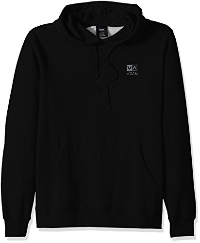 RVCA Men's Flipped Box Embroidery Hoodie, Black, Large