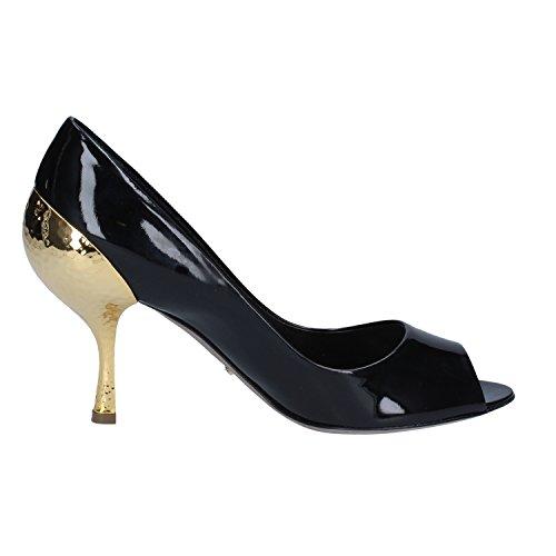 Sergio Rossi Zapatos de Salón Mujer 37 EU Negro Charol