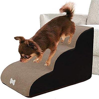Shaying Escaleras para Mascotas Pasos Escaleras para Perros Rampa Portátil Lavable Escalera De 3 Peldaños para Perros Gatos De hasta 121 LB / 55 Kg: Amazon.es: Coche y moto