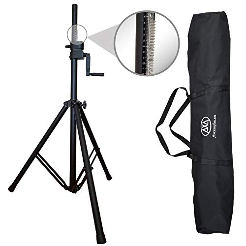 (AxcessAbles Heavy Duty 80lb Capacity Crank-Up Speaker or Lighting Tripod Stand w/Carrying Case)