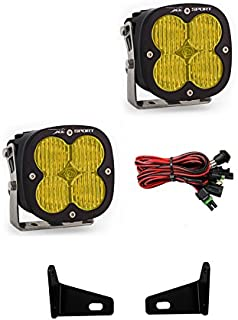 product image for Baja Designs XL Sport Pair Wide Cornering Amber LED Light Kit Can-Am Maverick X3