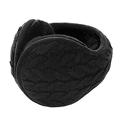 Unisex Adult Knit Earmuffs Behind the Head Winter Ear Warmer Outdoor Ear Muffs