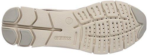 Geox D SUKIE A - zapatilla deportiva de cuero mujer beige - Beige (BEIGE/SKINC5410)