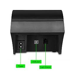 Excelvan 5890K USB 58mm POS Dot Thermal Receipt Printer, Black
