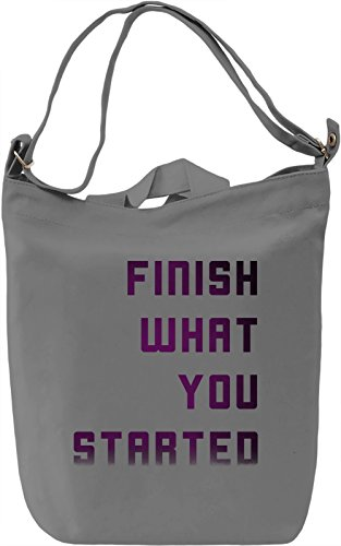 Always Finish Things Borsa Giornaliera Canvas Canvas Day Bag| 100% Premium Cotton Canvas| DTG Printing|