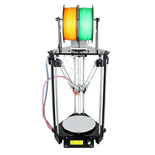 Geeetech New Kossel Delta Rostock Mini G2s DIY Dual Extruder Auto Level 3D Printer + 1KG Free PLA Filament