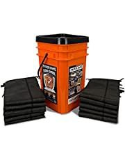 Quick Dam Grab & Go Flood Kit Includes 10-5-ft Flood Barriers in Bucket (QDGG5-10)