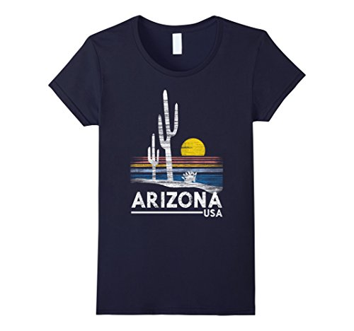 Womens Arizona T Shirt Vintage 1980S Style Funny Gift For Men Large Navy