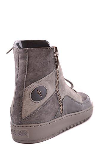 Cesare Paciotti Damen MCBI068019O Grau Wildleder Hi Top Sneakers