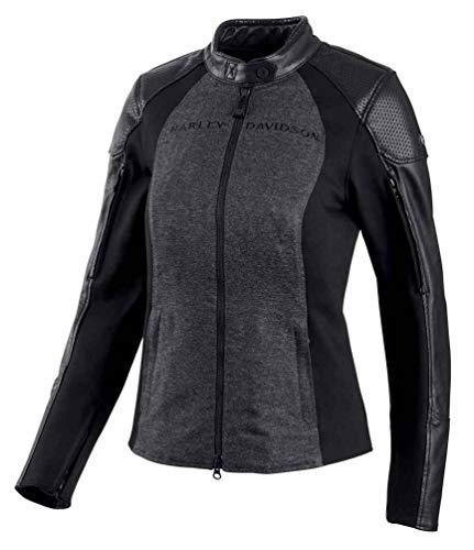 (Harley-Davidson Women's Lindacrest Riding Jacket, Black 97135-19VW (L))