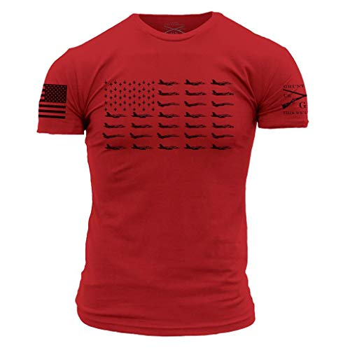 Grunt Style Freedom Wings Men's T-Shirt, Color Red, Size - Wings Freedom