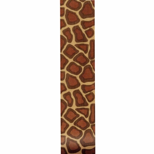- Offray Giraffe Craft Ribbon, 7/8-Inch x 9-Feet, Brown