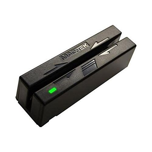 Hid Track Heads - MagTek 21040140 Mini USB Swipe Reader Dual Head USB HID B and Tracks 1 2 and 3 - Requires HID Driver - Color Black