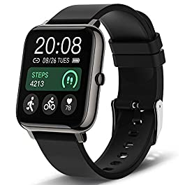 Smart Watch, Popglory Smartwatch with Blood Pressure, Blood Oxygen Monitor, Fitness Tracker with Heart Rate Monitor…