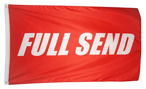N CENTS 3x5 Foot Full Send Flag Red Polyester Nelk Nelkboys for The Boys Banner with Brass Grommets 3 X 5 FT