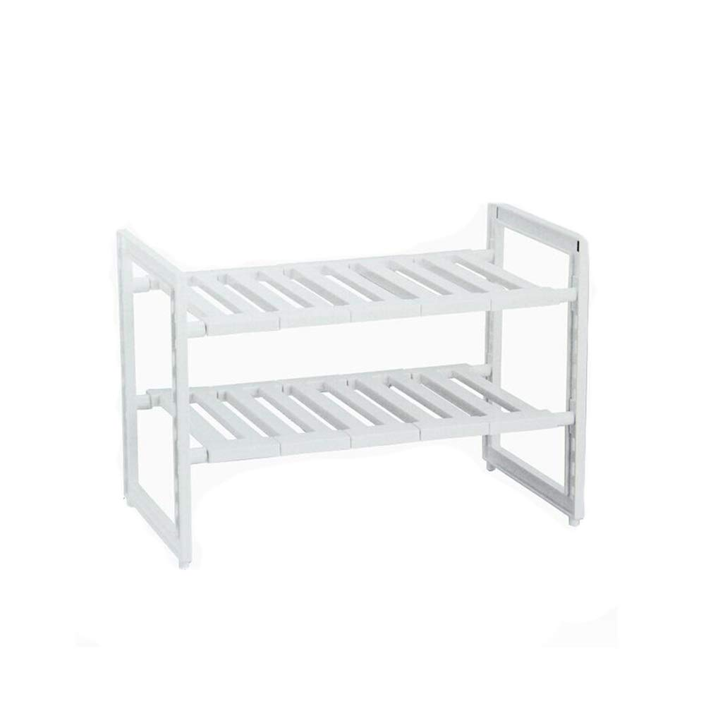 Bookcases Home Kitchen Rack Countertop Telescopic Cabinet Kitchen Sink Sink Rack Cabinet Storage Rack Adjustable Finishing Rack Yixin (Color : A, Size : 463040cm)