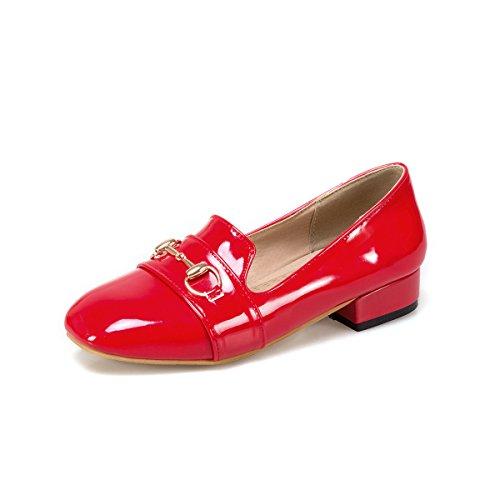 Damen Heels Mund MEI Toe Flach Square amp;S LSM Absatz Schuhe Niedrigem 4CqwOC