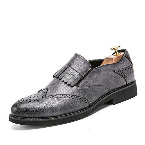 Xujw-shoes, 2018 Schuhe Herren Oxford-Klassische Britische Art-Fringe Brogue-Schuhe der Männer für Das Gehen, Zuhauseleben und Firma (Color : Braun, Größe : 42 EU) Grau
