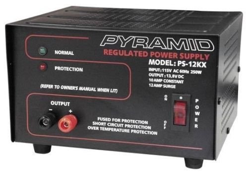 PS-NEW Pyramid 10 Amp Power Supply - Input: 115V AC, 60Hz, 250W. Output: 13.8V (Pyramid 10 Amp)
