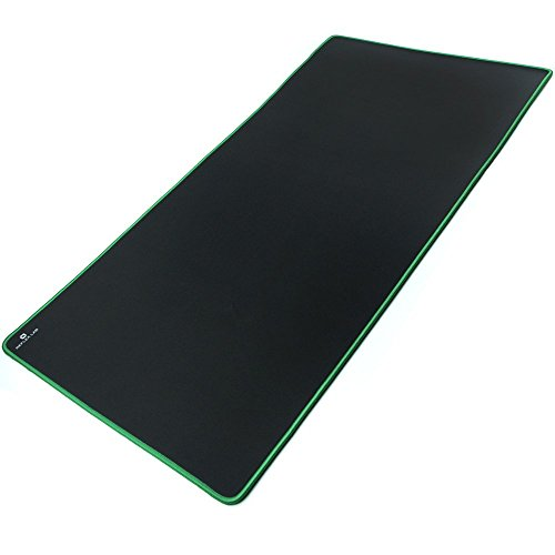 "Reflex Lab Extra Large Extended Gaming Mouse Pad Mat XXXL, Stitched Edges, Waterproof, Ultra Thick 5mm, Wide & Long Mousepad 36""x18""x.20"" Green"