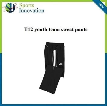 adidas T12 Juventud Pantalones de chándal Negro, 12 Años: Amazon ...