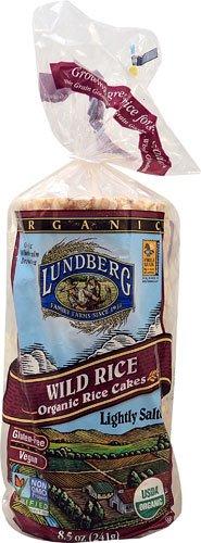 Lundberg Organic Wild Rice Cakes Lightly Salted -- 8.5 oz - 2 pc