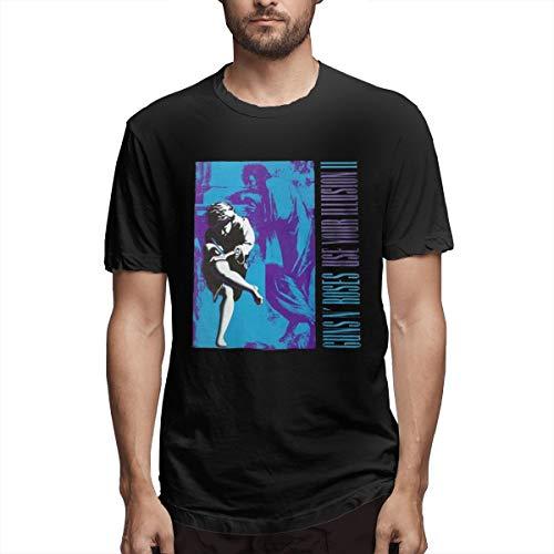 Eilli Retro Guns-N'-Roses-Use-Your-Illusion-II Vintage T Shirt Tee3XL ()