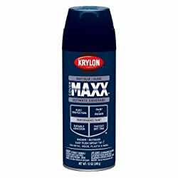 Krylon Diversified Brands K09130000 CoverMaxx Spray Paint & Primer, Gloss, Navy Blue, 12-oz. - Quantity 6