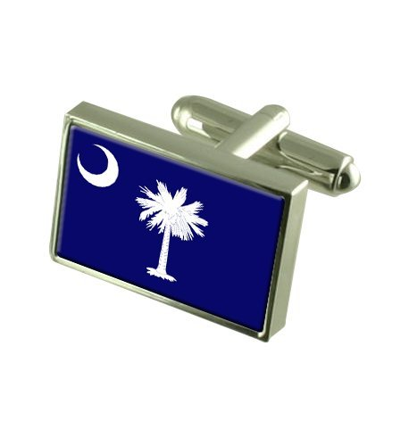 Caroline du Sud Boutons de manchette drapeau avec select pochette cadeaux