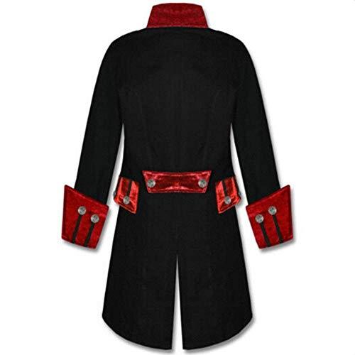 Jacket Vittoriano Cosplay Targogo Lungo Uomo Uniforme Cappotto Da Smoking Steampunk Rot Vintage Gothic Gotico WqY1Hwp