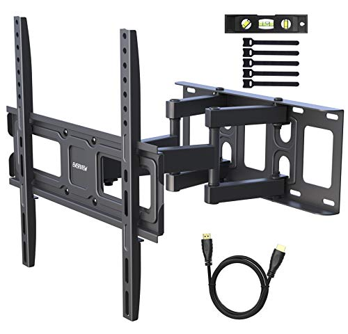 (TV Wall Mount Bracket fits to Most 32-55 inch LED,LCD,OLED Flat Panel TVs, Tilt Full Motion Swivel Articulating Arms, Bring Perfect Viewing Angle, Max VESA 400X400, 99lbs Loading-by EVERVIEW)