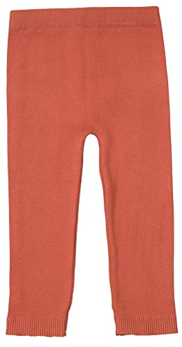 Silky Toes Infant, Baby, Toddler Knit Leggings, Cotton Pants for Girls and Boys, (Rust, 12-18M) ()
