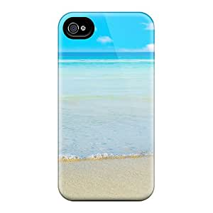Durable Defender Case For Iphone 4/4s Tpu Cover(summer Beach)