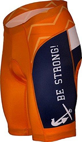 Adrenaline Promotions NCAA Hope College Men's Cycling Shorts, Black/Orange, Medium ()