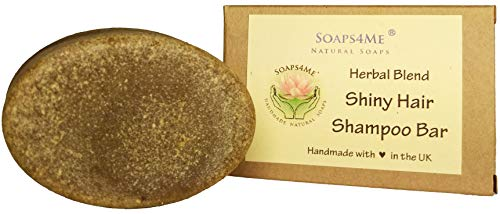 ATTIS Handmade Shiny Hair Herbal Blend Shampoo Bar | with Ginger Root | Henna | Chia Seed | Amla | Tulsi | Shikakai | Reetha | Sulfate Free | For Men & Women