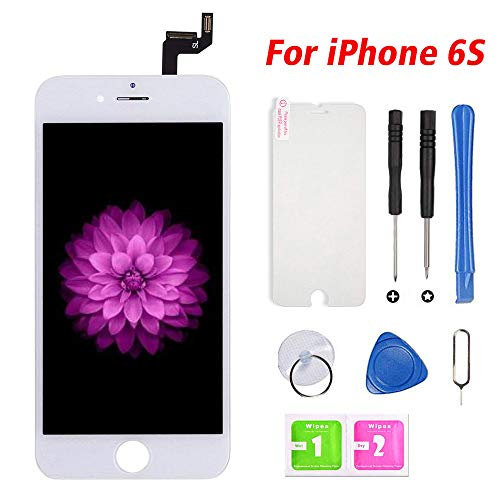 (FFtopu Compatible with iPhone 6s Screen Replacement White, LCD Display & Touch Screen Digitizer Frame Assembly with Repair Tools(4.7''))
