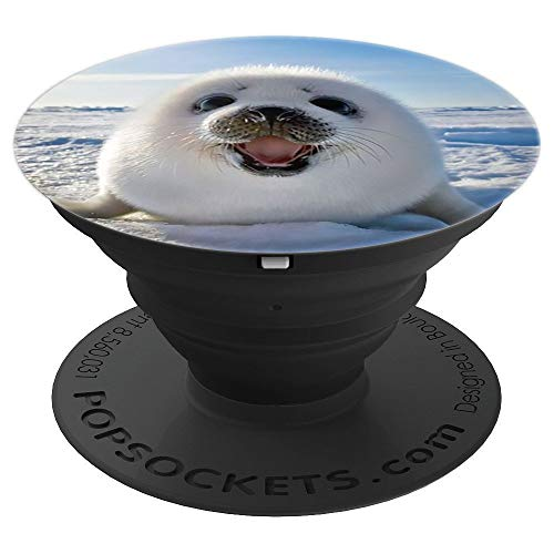 - Baby Seal White Fur on Ice and Snow Save Wild Animals Gift - PopSockets Grip and Stand for Phones and Tablets